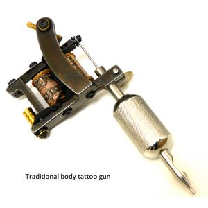 Traditional body tattoo gun