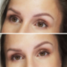Cover up of blurred pink microblading