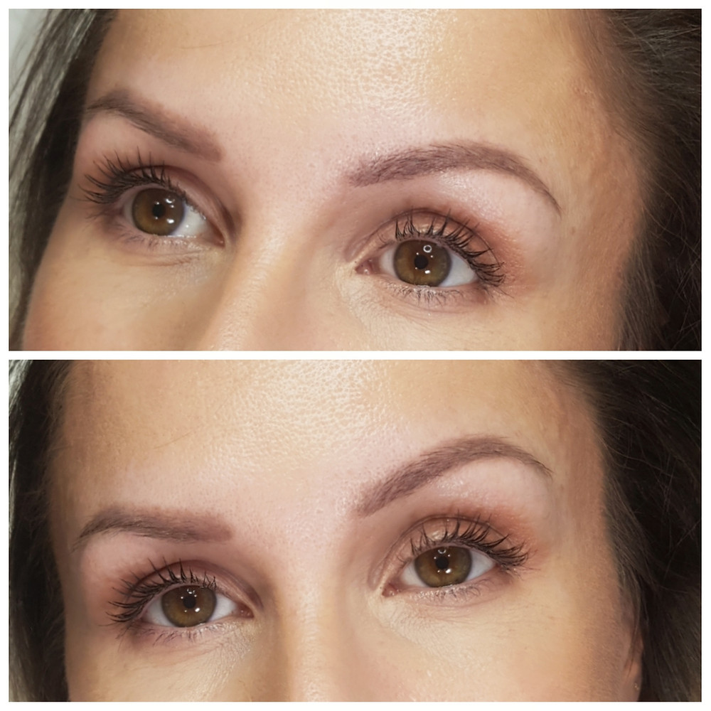 Healed Coverup Over Blurred Pink Microblading