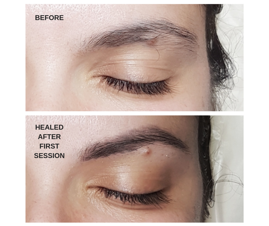 Adding an arch to natural brow shape with the Soft Powder Brow Tattoo.