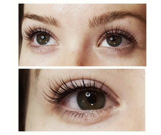 Keratin Lash Lift and Tint.