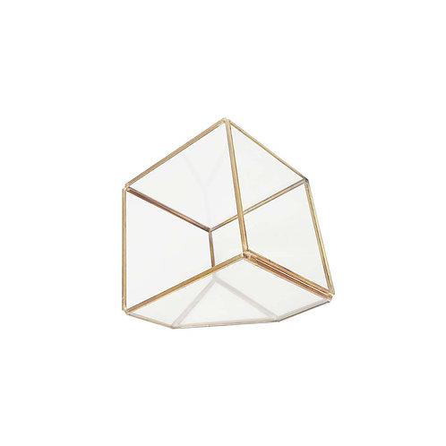 歐美銅色玻璃花盆
