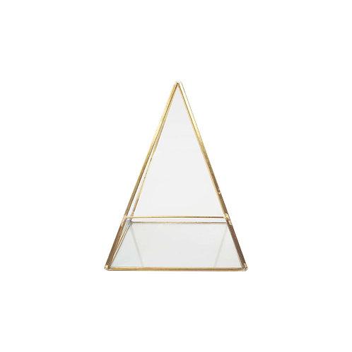 金色玻璃金字塔花器