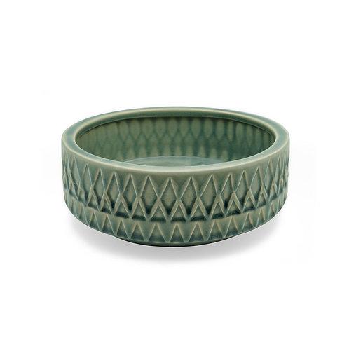 幽綠陶瓷花盤