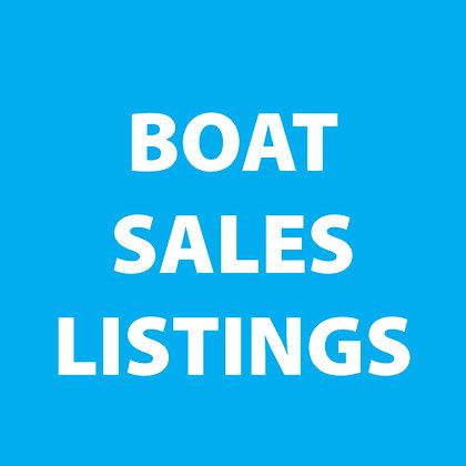 Boat Sales Listing
