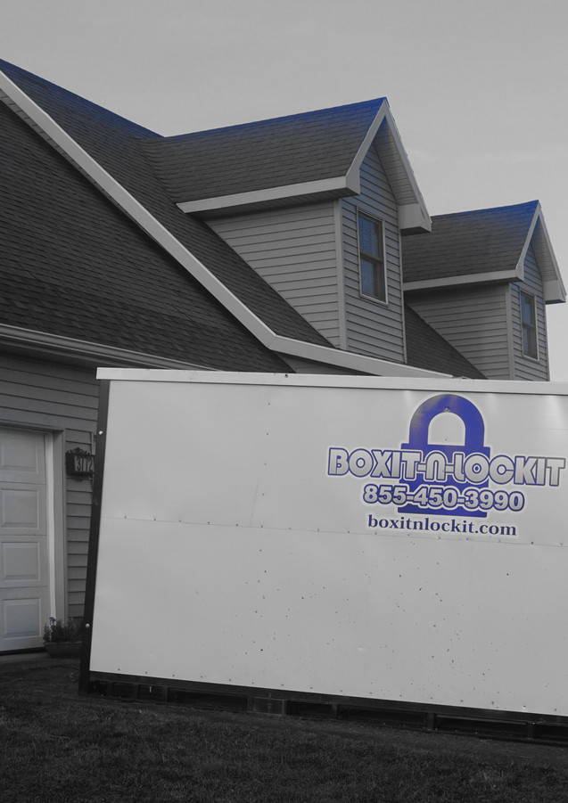 Boxit-N-Lockit portable self storage unit