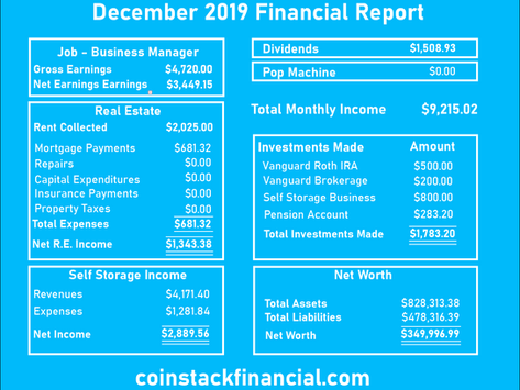 December 2019 Financial Statement