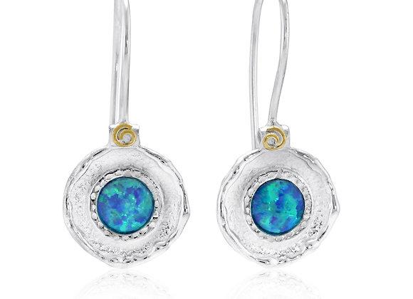 Pale Blue Opalite Hook Earrings
