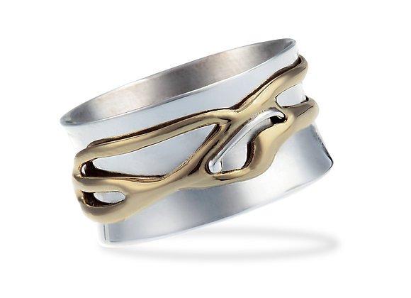Spinning Ring With Organic Brass Spinner