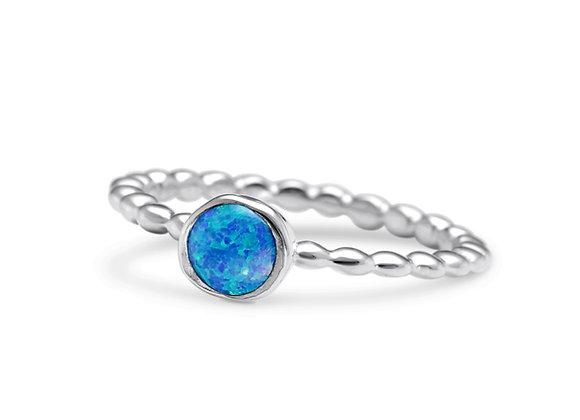 Vibrant Blue Opalite Ring