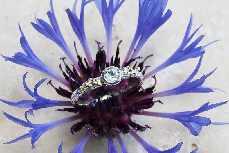 Isla Silver blue topaz silver ring