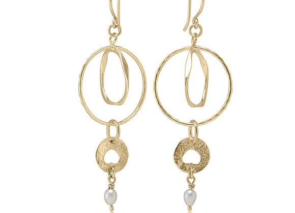 Gold plated Dangle earrings