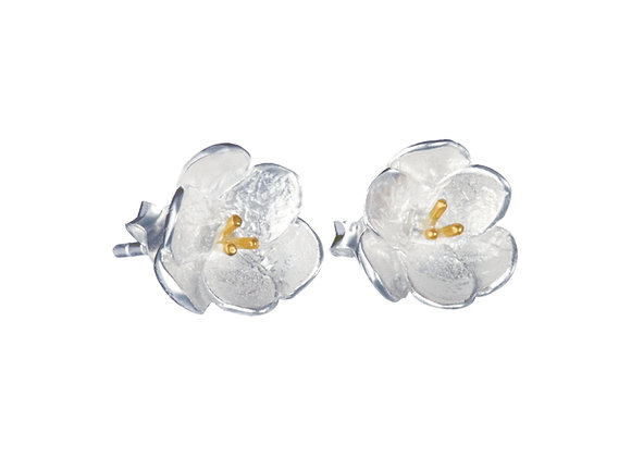 Buttercup Stud Earring in Sterling Silver