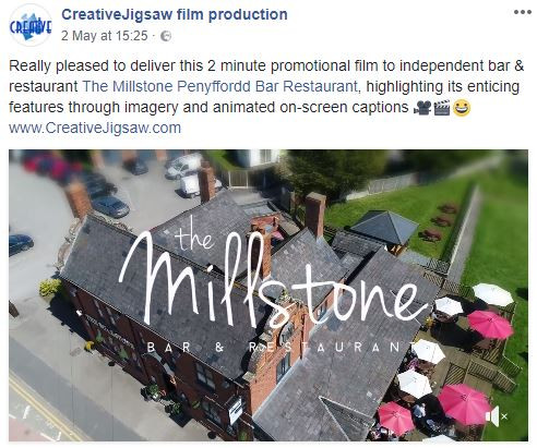 The Millstone's film posted on Facebook