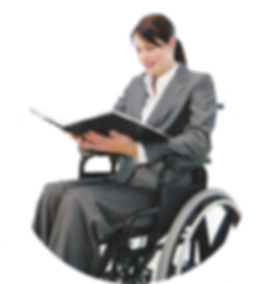 young lady sitting in wheelchair