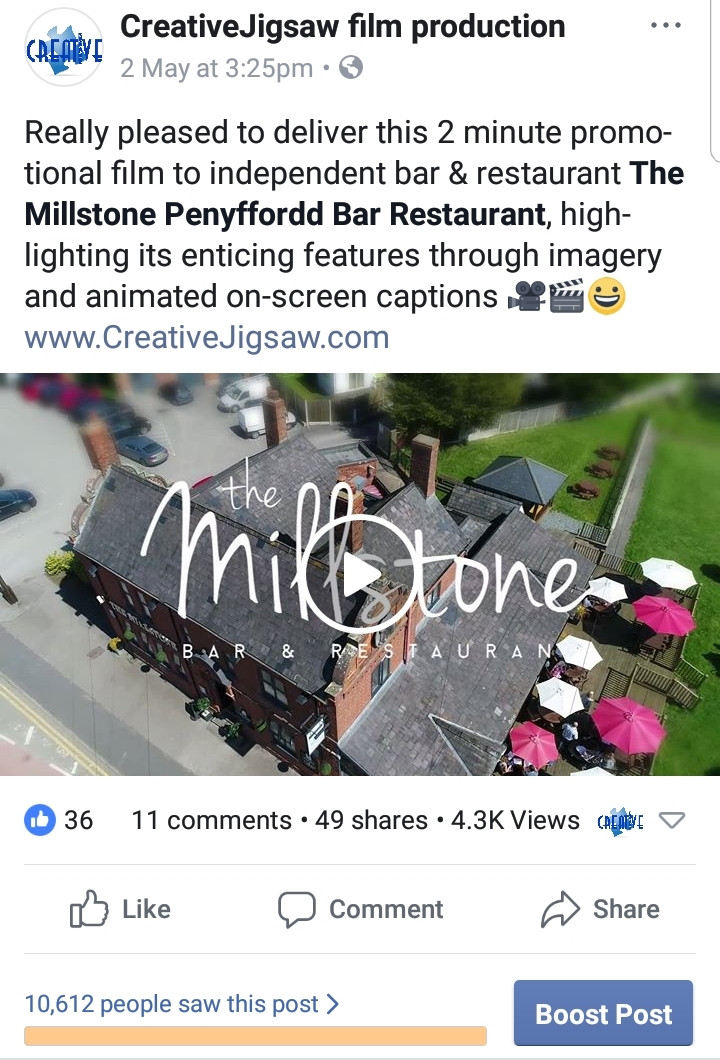 The Millstone's Facebook post 24 hours in