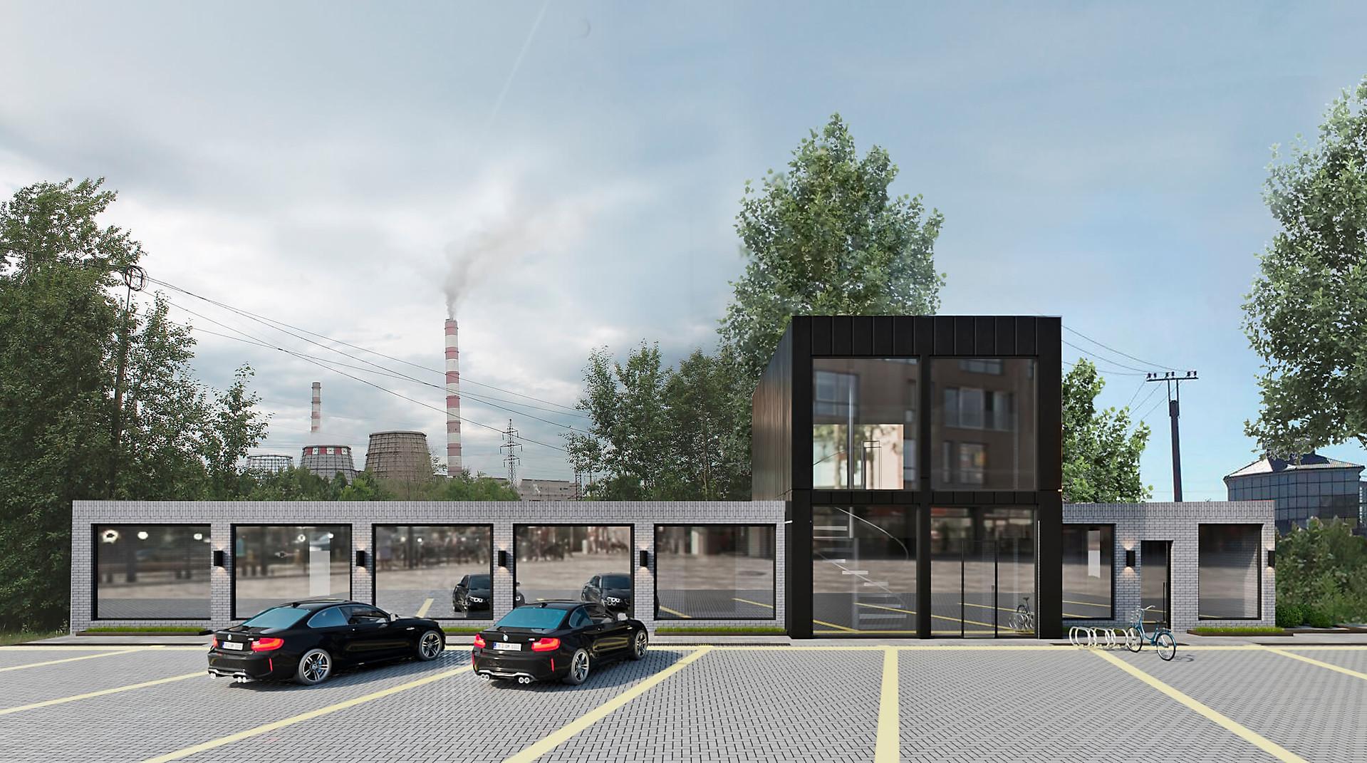 визуализация экстерьера офисного здания