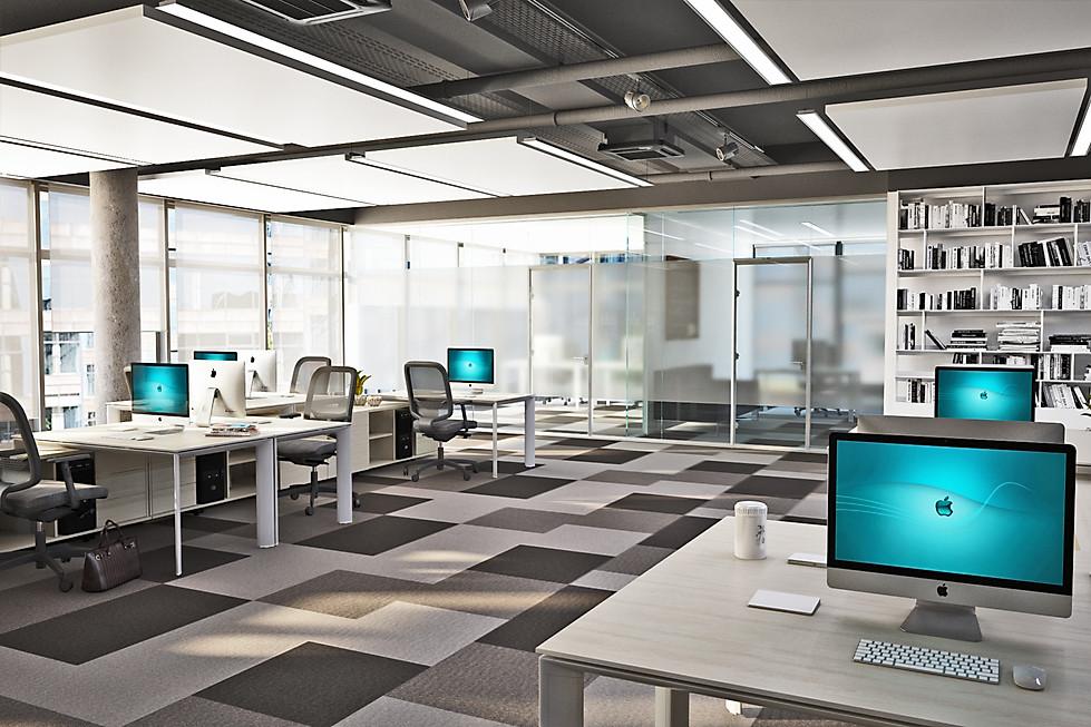 3D визуализация зоны open space
