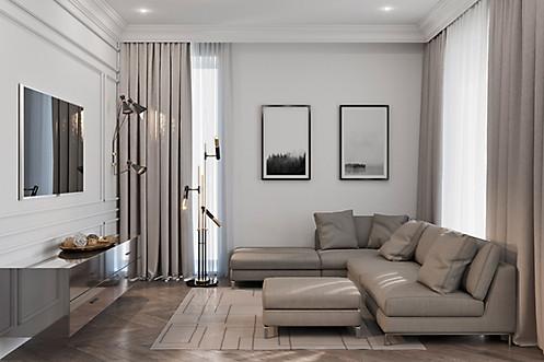 3d визуализация интерьера апартаментов