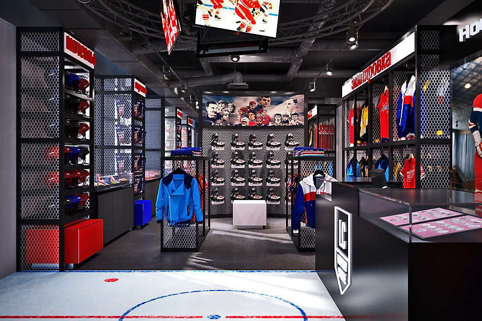 3d визуализция магазина