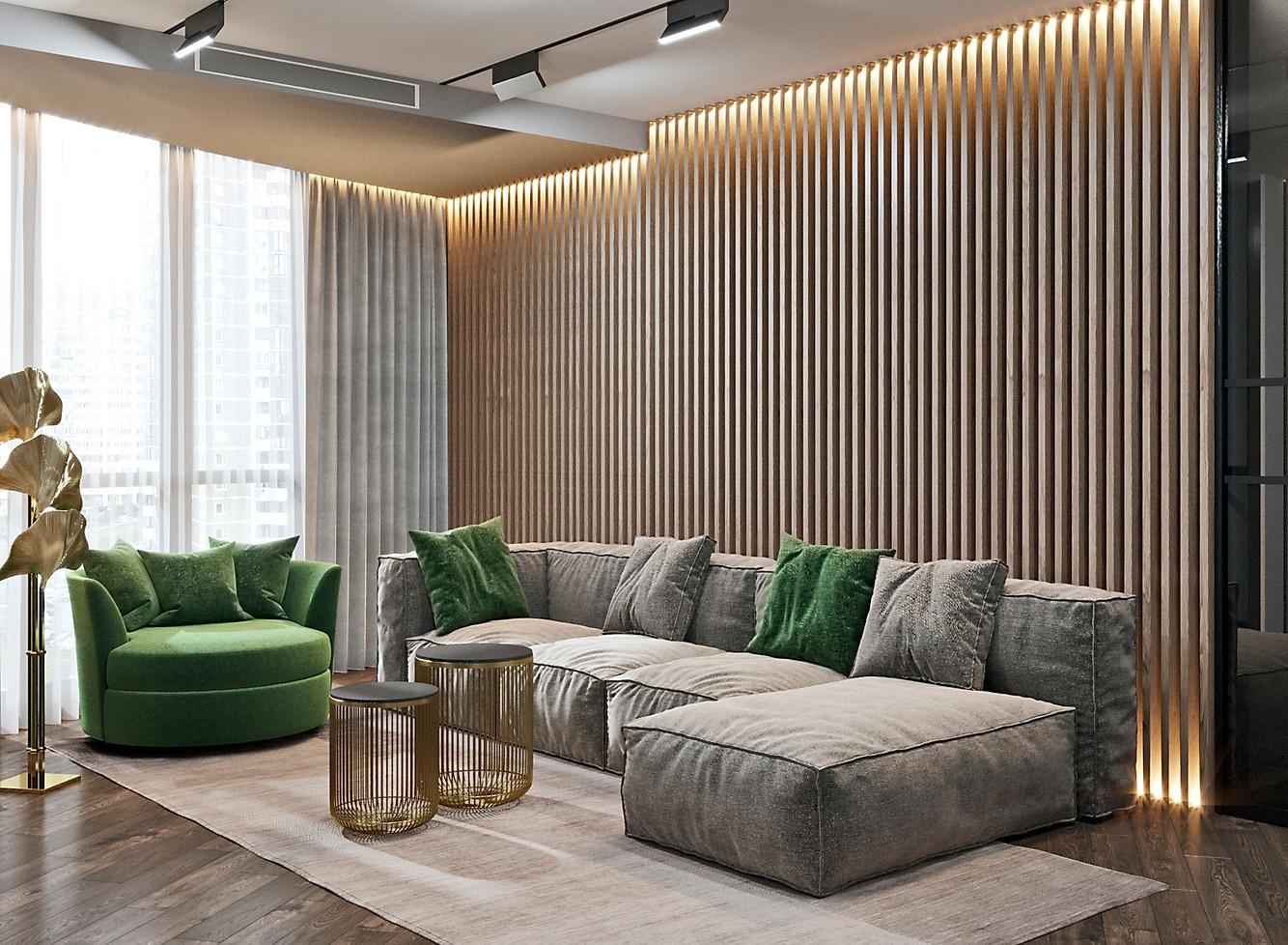 визуализация гостиной зоны