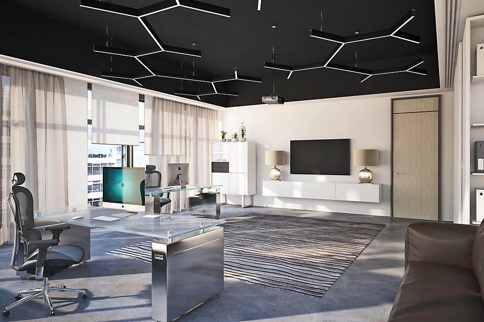 3D визуализация кабинета топ менеджеров