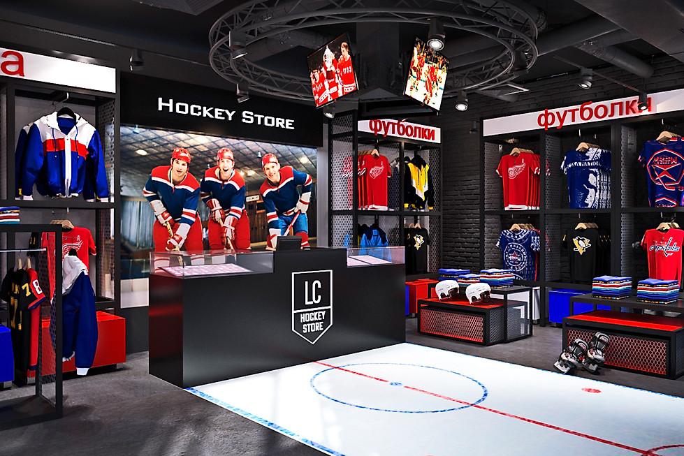 визуализция спортивного магазина