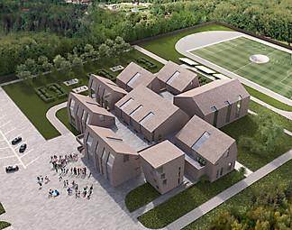 архитектурный 3d проект Школы в Чехии