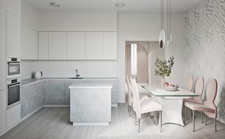 визуализация минималистичной квартиры №29