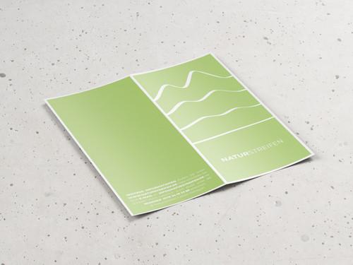 Falzflyer Design für Naturstreifen