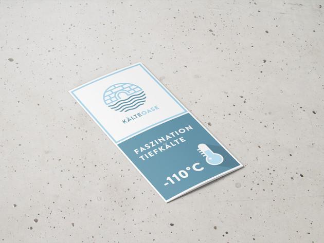 KälteOase Flyer Design 6 Seitig