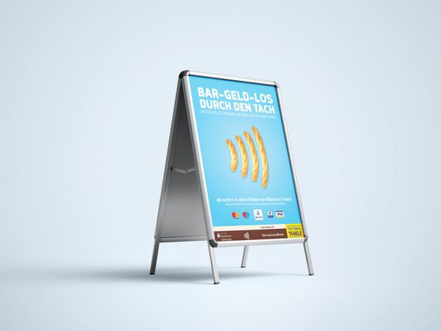 Werbeplakat Design für die Bäckerei Thiele