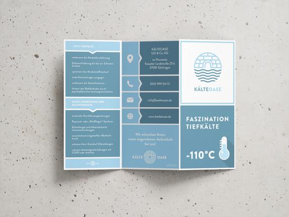 KälteOase Flyer Design 6 Seiten
