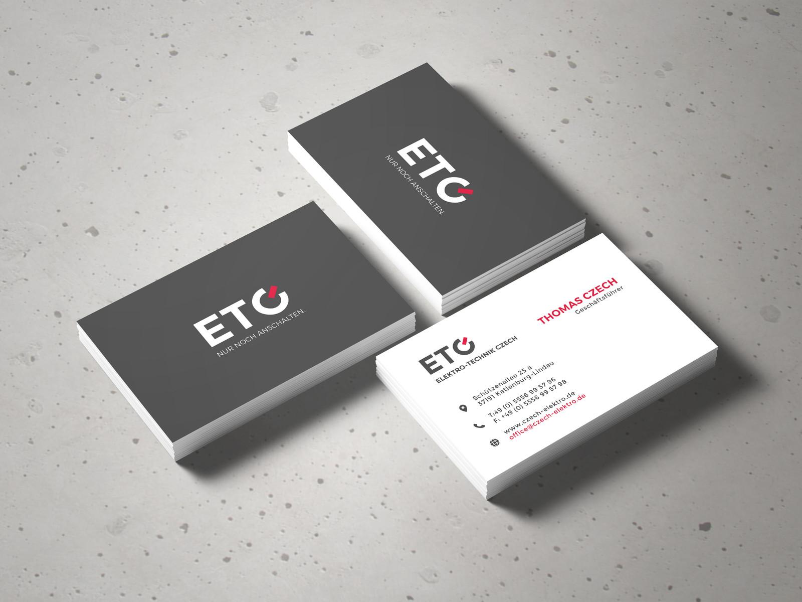 Print Visitenkarten Logo Design Für Etc Elektro Technik