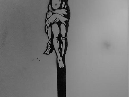 DEATH TO SELFIE - Medium - Spray Paint on Plywood