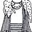 Leading Lady Nina Otero Warren Paper Doll Pattern Hand Drawn by Artist Jen Haefeli