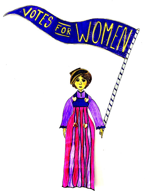 Leading Lady Ruza Wenclawska Paper Doll Pattern Hand Drawn by Artist Jen Haefeli