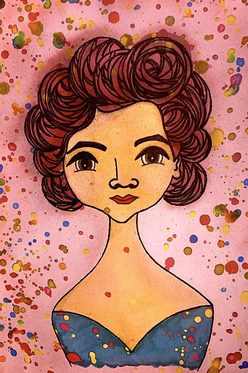 Rosé Jovita, Jovita Idár, Leading Lady Jovita Idár Painting by. Artist Jen Haefeli