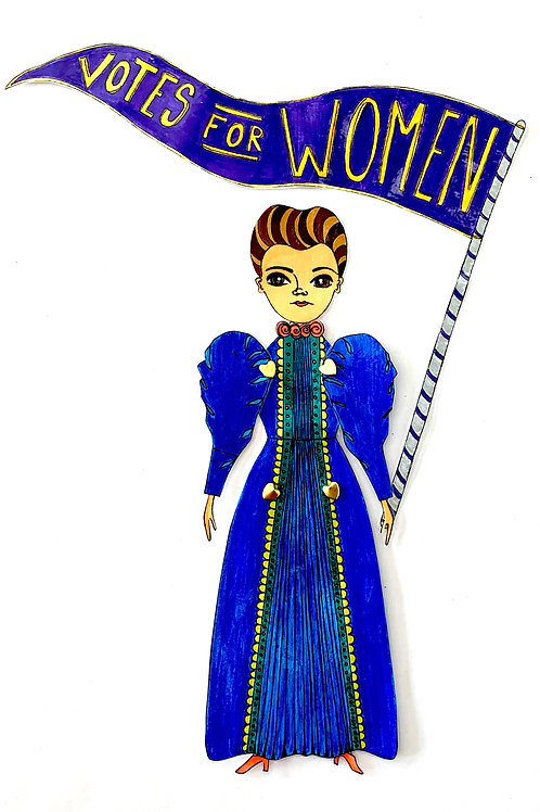 Leading Lady Jane Addams Paper Doll Pattern Hand Drawn by Artist Jen Haefeli
