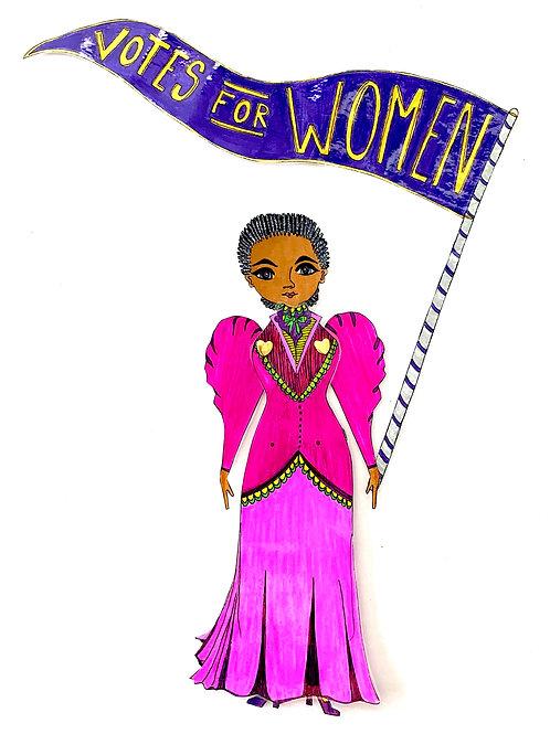 Leading Lady Frances Ellen Watkins Harper Paper Doll Pattern Hand Drawn by Artist Jen Haefeli