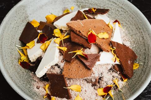 Chocolate Pudding, Whiskey Caramel, Dark Chocolate,  Malt Ice Cream