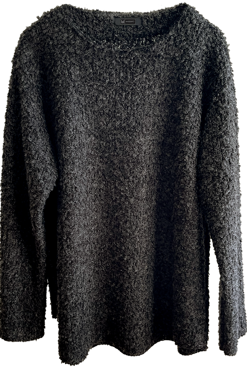 Unisex Gray Mohair Sweater