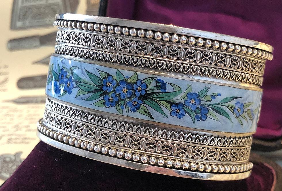 Victorian sterling enamel bracelet