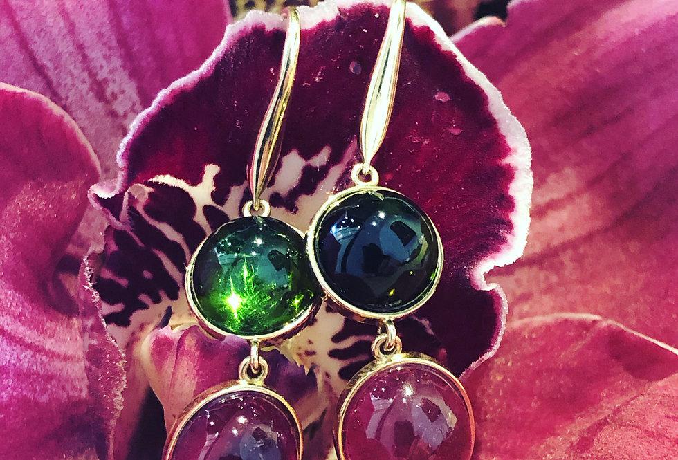 18ct Tourmaline  earrings
