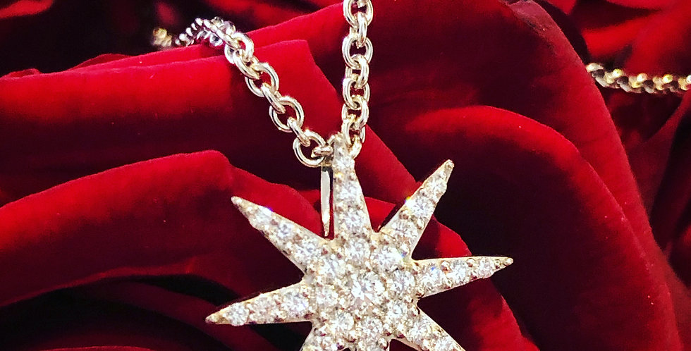 18ct diamond star pendant
