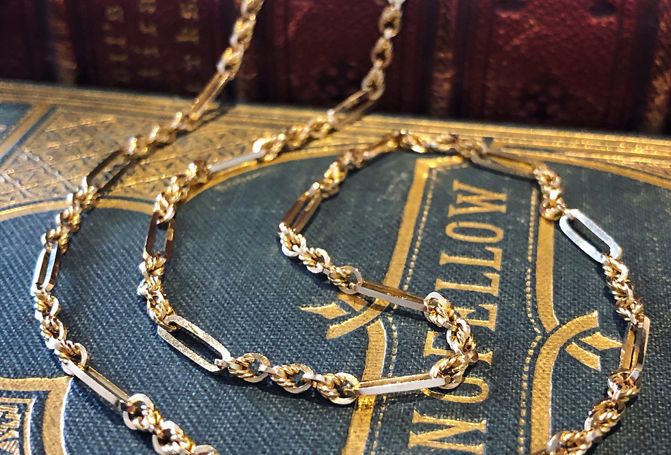 Antique 9ct muff chain