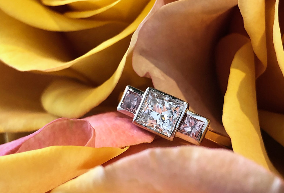 18ct Argyle pink and white diamond ring