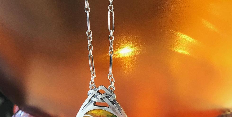 Sterling Murrle Bennett Arts and Crafts enamel necklet