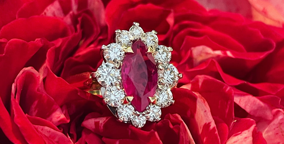 Stunning ruby and diamond ring