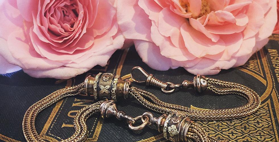 Gold albertina tassel bracelet
